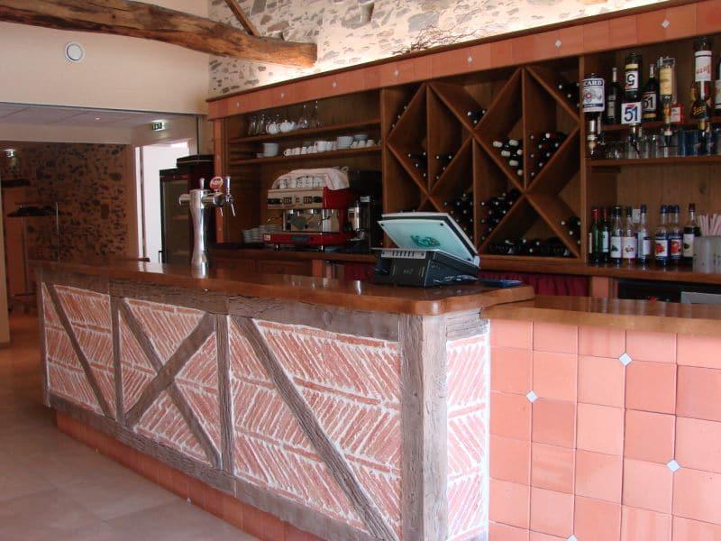 Le bar du Domaine de la Bretonnière